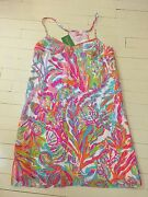 New Lilly Pulitzer Scuba To Cuba🐙 Dusk Sale Sexy Silk Dress Xs Discontinued