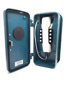 Dritel Site Outdoor Emergency Telephone Push Button Phone In Blue Metal Case