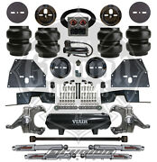 Chevy C10 63-64 Front And Rear Air Bag Suspension Kit W/ Drop Spindles Viair 444c