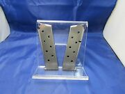 Two Stainless 45 Auto 1911 Magazine Mag 7 Round Fits Colt Kimber Springfield