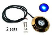 Pactrade Marine 2sets White Cree Led Underwater Ss316 Gold Housing Surface Mount