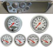67 Gto Silver Dash Carrier W/ Auto Meter Ultra Lite Electric Gauges