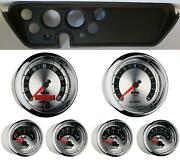 67 Gto Black Dash Carrier W/ Auto Meter American Muscle Gauges