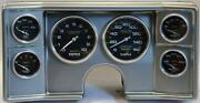78-81 Chevy G Body Silver Dash Carrier W/ Auto Meter Carbon Gauges
