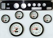70-81 Firebird Carbon Dash Carrier Concourse White Face Gauges