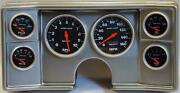78-81 Chevy G Body Silver Dash Carrier W/ Auto Meter Sport Comp Electric Gauges