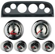 60-63 Chevy Truck Carbon Dash Carrier W/ Auto Meter American Muscle Gauges