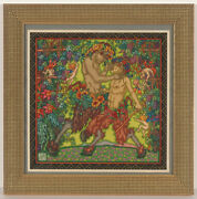 Alfred Waagner 1886-1960 Fauns And Elves, Watercolor, 1910s