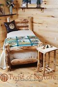 Western Corral Log Bed Complete Bed- Ships Free Twist Of Nature Brand