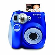 Polaroid Pic-300 Instant Film Analog Camera Blue Color Business Card Size