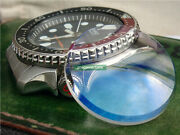 Double Domed Shape Crystal Glass With Blue Color Ar For Skx007 009 Spare Parts