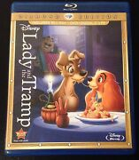 Disney Lady And The Tramp Blu-ray And Dvd Diamond Edition 3-disc Set 2012 Oop Rare