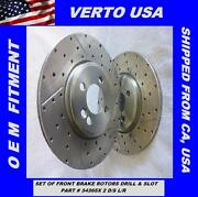 Front Brake Rotors Drilled And Slot For 2007 To 2013 Mini Cooper With 294mm Disc