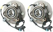 Hub Bearing For 2002 Gmc Yukon Xl 1500 4wd/awd Only-6 Stud Front Pair