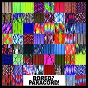 550 Paracord Rope Commercial Type Iii - 60 More Colors And Patterns 25-50-100 Ft