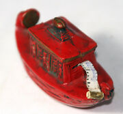 Antiquered Gondola Tape Measure Boatcelluloid,figural,novelty-madein Germany