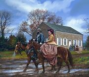 Along The Streets Of Winchester John Paul Strain Executive A/p Canvas Giclee