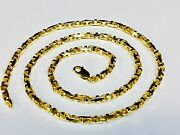 14k Solid Yellow Gold Anchor Mariner Bullet Link Chain Necklace 4 Mm 35 Grams18