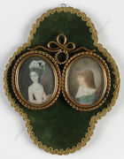 Two Miniature Portraits From The Family Barons Von Palm German School 18th C