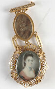 Jeremiah Meyer Gold Chatelaine With Portrait Miniature Ca.1780
