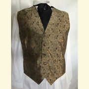 Scully Rangewear Menand039s Cheyenne Golden Taupe Paisley Western Vests-6x