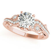 1/2 Ct. Halo Antique Engagement Diamond Ring In 14k Gold