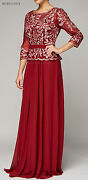 Mother Of The Bride Groom Church Wedding Dresses 3/4 Sleeve Formal Evening Gowns