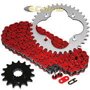 Red O-ring Drive Chain And Sprocket Kit For Honda Trx400ex Trx400x 2005-2014
