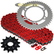 Red O-ring Drive Chain And Sprocket Kit For Honda Cr250r 2003 / Crf450r 2004-2016