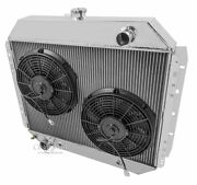 1966-79 Ford F-series 1978-79 Bronco 4 Core Rr Radiator 12 Fans V8 Eng