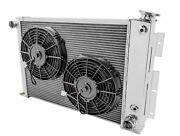 68 74 Dodge Plym Cross Flow Rr Radiator + Two 10 Fans Small Block Cooling