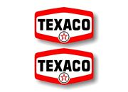 2 Texaco 1960and039s Gasoline Vintage Gas Pump Decals Station Pumps Sign Stickers
