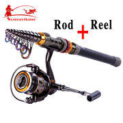 Spinning Telescopic Fishing Rod And Reel Combos Kits Portable Fishing Tackle Set