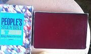 The Peopleand039s Study Bible- King James -burgundy Deluxe Bonded Leather Brand New