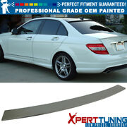 Fits 08-14 C-class W204 4dr Painted Oe Style Roof Spoiler - Oem Painted Color