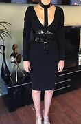 New Versace Runway Cutout Bodycon Plunging Deep Neckline Dress Gown 38 4 So Sexy