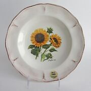 GTB CERAMICA Rustic Sunflower Pasta Soup Salad BOWL made in Italy Set 5 NEW