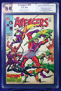 Avengers 55 Marvel 1968 Pgx 8.0 Vf Very Fine 1st Ultron Signed Stan Lee +cgc