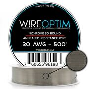 30 Gauge Awg Nichrome 80 Wire 500' Length - N80 Wire 30g Ga 0.254 Mm 500 Ft