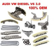 Engine Timing Chain Kit, Guides,tensioners Fits Audi Q7 Vw Touareg Diesel 3.0