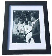 Psa/dna 42nd President Bill Clinton Signed Autographed Framed Photo Bill And Jfk