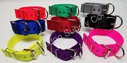 2 3-ply Nylon Heavy Duty Dog Collar For Pit Bull And Large Breeds