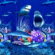 Linerworld - Shark Nation - Overlap Above Ground Pool Liner All Sizes Exclusive