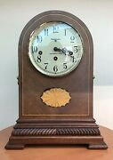 Baldwin 8 Day Westminster Chime Mantel Clock With Beautiful Wood Inlays.
