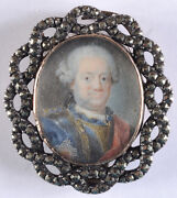 Royalty With Russian Order Of St. Anna Of 1st Class German Miniature