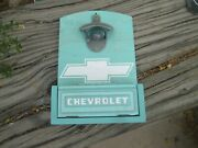 Chevrolet Pickup Tailgate Genuine Wall Mounted Bottle Opener With Cap Box