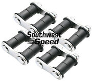 New 1928-1934 Ford Front And Rear Leaf Spring Shackle Kit,2 1/4,chrome,model A