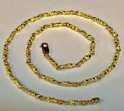 14kt Solid Gold Handmade Nugget Link Chain/necklace 24 33 Grams 4 Mm