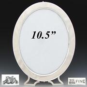 Antique American Sterling Silver 10.5 Oval Picture Frame New York C. 1887-1903