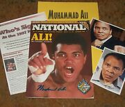 Muhammad Ali Autographed Sports Conv. Mgz And Photos - Real Collectible